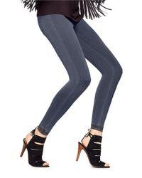 Hue | Gray Super Smooth Denim Leggings | Lyst