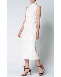 Katie Ermilio - Pink Silk Faille Sleeveless Dress - Lyst