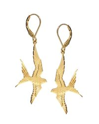 Zoe & Morgan | Metallic Zoe Morgan Return Me To My Love Swallow Earrings | Lyst