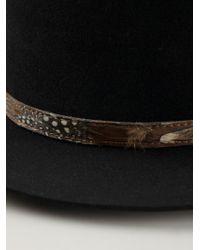 Saint Laurent - Black Flat Brimmed Hat for Men - Lyst