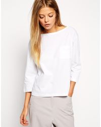 ASOS | White The Pocket T-shirt With Long Sleeves | Lyst