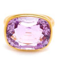 Marie-hélène De Taillac | Pink Princess Cut Amethyst Ring | Lyst