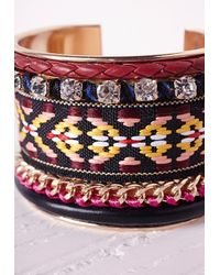 Missguided | Multicolor Beaded Aztec Cuff Multi | Lyst