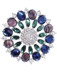 Jones New York | Multicolor Silver-tone Crystal And Jewel Cluster Pin | Lyst