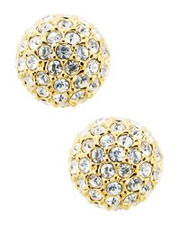 Nadri | Metallic Small Stud Earrings | Lyst