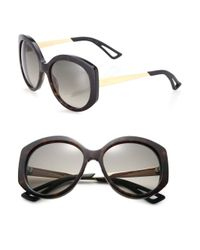 Dior | Green Extase 58mm Round Sunglasses | Lyst