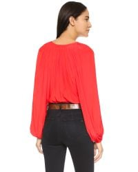 Ramy Brook | Red Paris Blouse - Flame | Lyst
