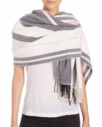 Rag & Bone | Beige Warped Stripe Merino Wool Scarf | Lyst
