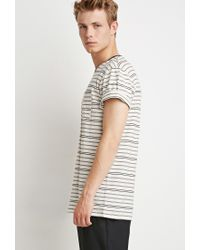 Forever 21 | Natural Striped Pocket Tee for Men | Lyst