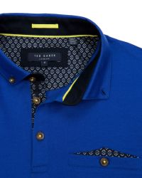 Ted Baker | Blue Skybar Jersey Polo Top for Men | Lyst