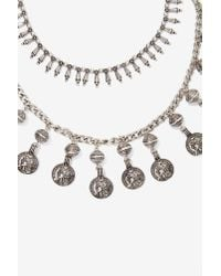 Nasty Gal | Metallic Amah Double-strand Charm Necklace | Lyst
