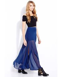Forever 21 | Blue Must-Have M-Slit Maxi Skirt | Lyst
