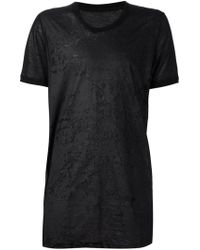 Julius - Black Burnout Print Sheer T-shirt for Men - Lyst