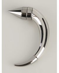 Givenchy | Gray Magnetic Horn Earring | Lyst