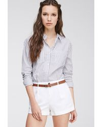 Forever 21 | White Belted Chino Shorts | Lyst