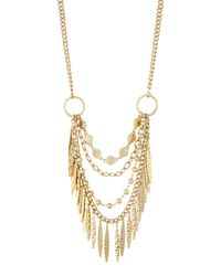 Panacea | Metallic Multi-row Fringe Necklace | Lyst