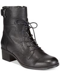 Bandolino | Black Clovis Lace Up Booties | Lyst
