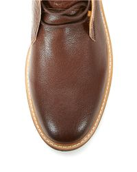 Calvin Klein | Brown Tracen Leather Lace-up Chukka Boots for Men | Lyst