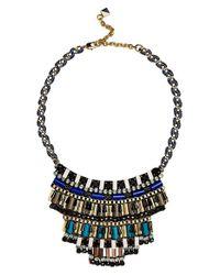 Nocturne - Blue 'jez' Frontal Necklace - Lyst