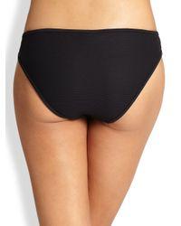 MILLY - Black Curacao Mesh Bikini Bottom - Lyst