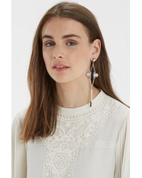 Oasis - Multicolor Flower Drop Earrings - Lyst