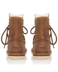 Ugg - Brown Lodge Suede Boots With Lace-up Front - Lyst