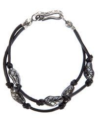 Bottega Veneta | Black Engraved Bead Bracelet for Men | Lyst