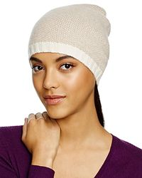 C By Bloomingdale's - Gray Cashmere Birdseye Slouchy Hat - Lyst