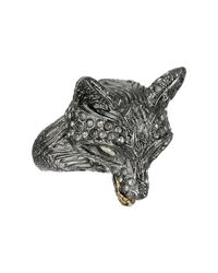 Alexis Bittar | Metallic Crystal Encrusted Fox Ring | Lyst