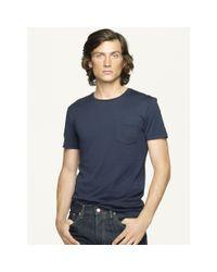 Ralph Lauren Black Label - Blue Short-sleeved Pocket T-shirt for Men - Lyst