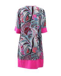 Emilio Pucci - Pink Contrast Hem Dress - Lyst
