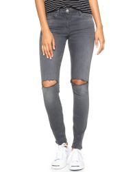 3x1 - Gray W2 Busted Knee Skinny Jeans - Golf - Lyst