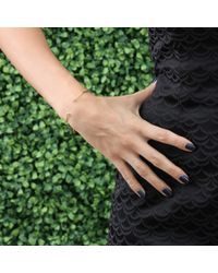 Jemma Wynne - Metallic Ball Bangle With Diamond Charm - Lyst