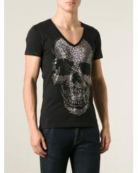 Philipp Plein - Black Essential T-Shirt for Men - Lyst