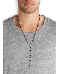Dolce & Gabbana | Metallic Silver Plated Rosary Necklace for Men | Lyst