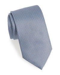 Ermenegildo Zegna - Gray Geometric Silk Tie for Men - Lyst