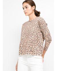 Mango - Multicolor Leopard Print Sweater - Lyst