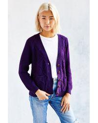 BDG | Purple Classic Fisherman Cardigan | Lyst