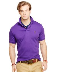 Polo Ralph Lauren | Purple Pima Soft-Touch Polo Shirt for Men | Lyst