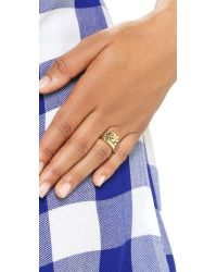 Snash Jewelry - Metallic Pizza Ring - Gold - Lyst
