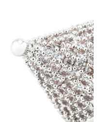 Eddie Borgo | Metallic Pavé Crystal Cone Earrings | Lyst