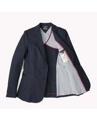 Tommy Hilfiger | Blue Cotton Blend Blazer | Lyst