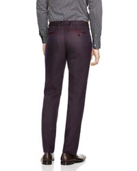 Ted Baker | Purple Baytro Birdseye Classic Fit Suit Trousers for Men | Lyst
