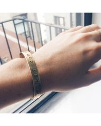 Bing Bang | Metallic Fuck Cancer Cuff | Lyst