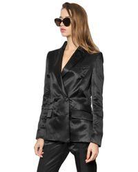 Vivienne Westwood | Black Viscose Satin Jacket | Lyst
