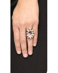 Holly Dyment | Multicolor Monday Enamel Skull Ring - Multi | Lyst