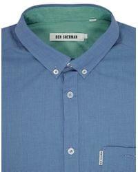 Ben Sherman | Blue Classic End-on-end Sportshirt for Men | Lyst