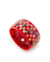 Mark Davis | Multicolor Amethyst, Rhodolite And Spessartite Bakelite Bangle | Lyst