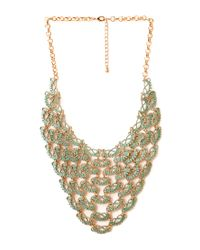 Forever 21 - Metallic Show Off Linked Bib Necklace - Lyst