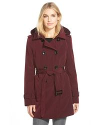 Calvin Klein | Purple Double Breasted Trench Coat | Lyst